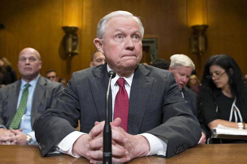 US Attorney General Jeff Sessions testifies before a Senate Appropriations subcommittee hearing on Capitol Hill in Washington, DC, on 25 April 2018.