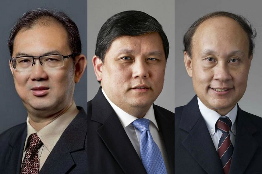 (From left) Retired permanent secretaries Chiang Chie Foo, Benny Lim and Tan Kim Siew have been appointed to ComfortDelGro Corp's board and the boards of its subsidiaries.