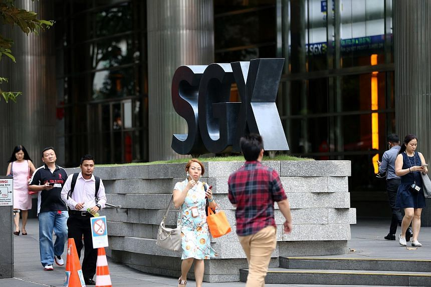 The Singapore Exchange Centre along Shenton Way.