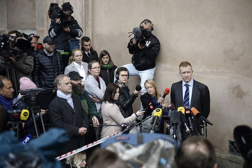 Prosecutor Jakob Buch-Jepsen talking to the press after the verdict in the Peter Madsen case in Copenhagen yesterday. Prosecutors had argued that Madsen killed Ms Kim Wall (above) as part of a dark sexual fantasy.