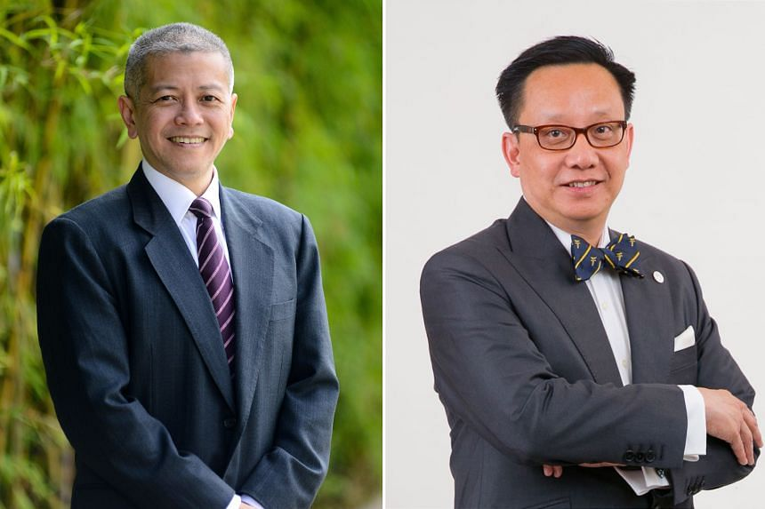 Professor Danny Quah (left) will take over as dean of the LKY School of Public Policy while Associate Professor Chong Yap Seng will become the 17th dean of the Yong Loo Lin School of Medicine.