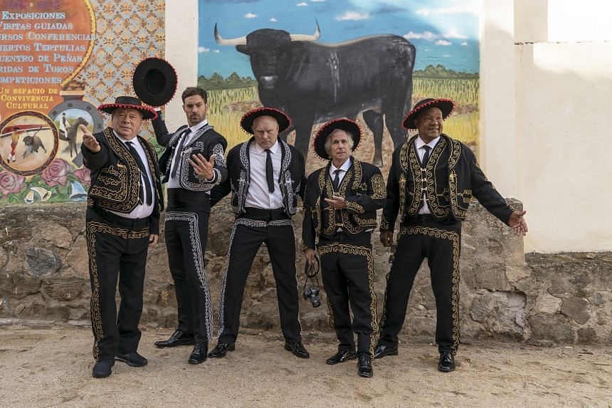 In the second season of Better Late Than Never, the stars – (from far left) William Shatner, Jeff Dye, Terry Bradshaw, Henry Winkler and George Foreman – travel through Europe and North Africa.