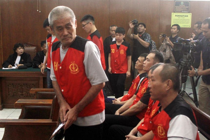 The men were arrested during raids last July, when the drug network's suspected leader was killed in a shootout with Indonesian police.
