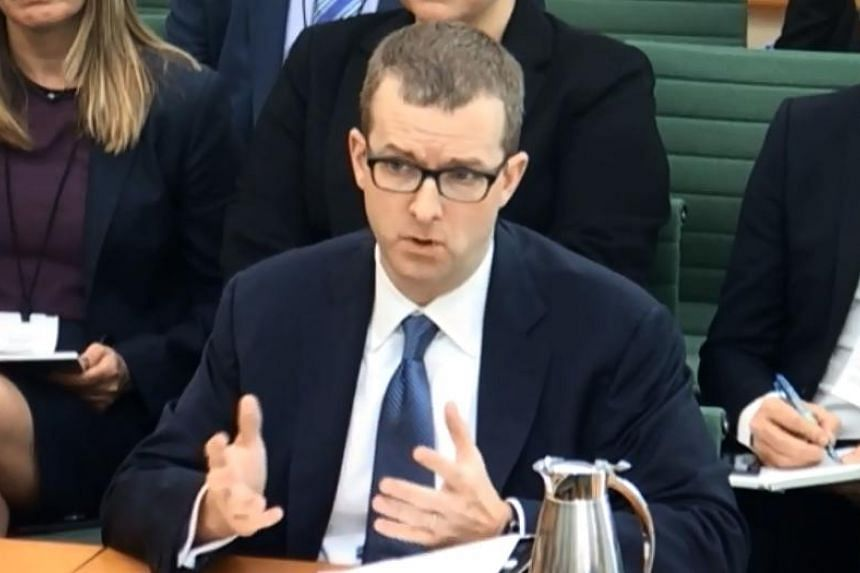 Facebook's Chief Technology Officer Mike Schroepfer answering questions before the Digital, Culture, Media and Sport Committee at Parliament in London on April 26, 2018.