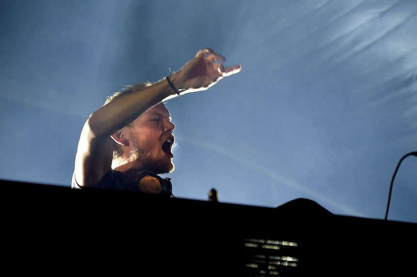 Avicii performing in Malmo, Sweden, in 2016.