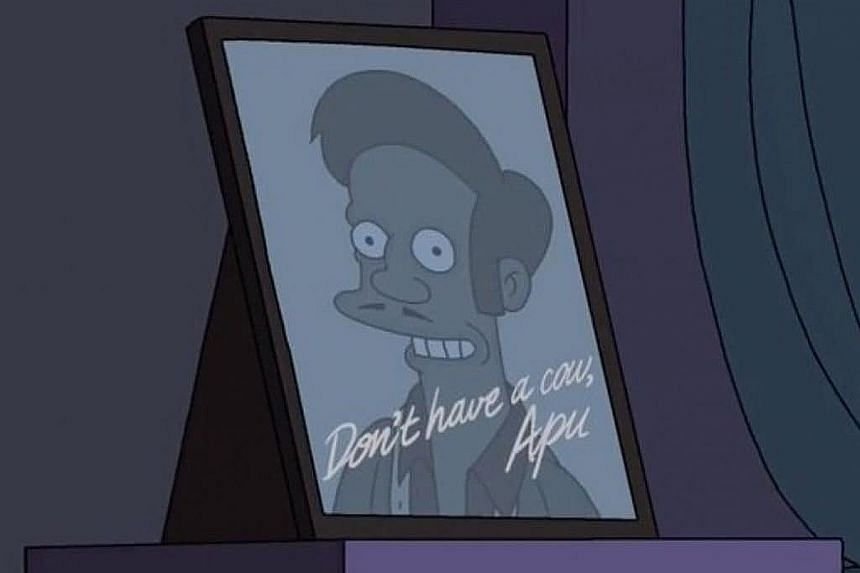 Apu is a convenience store clerk in The Simpsons. The character has come under criticism for decades for being a hurtful stereotype of an immigrant ethnic minority.