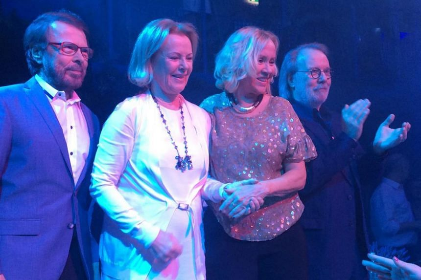 After 35 years, the four members of Abba have reunited by recording two new songs.