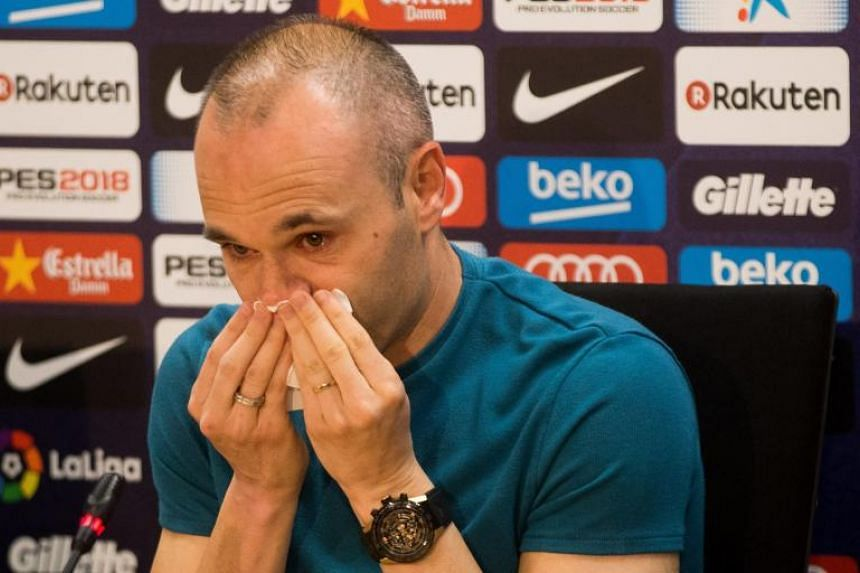 Barcelona's Andres Iniesta confirmed during a press conference that he will be leaving the Spanish club by the end of the season on April 27, 2018.