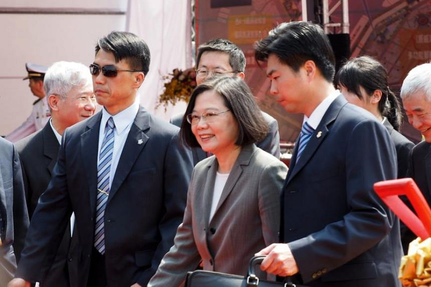 """Taiwan's President Tsai Ing-wen said her government """"would be willing to do anything that is helpful for... peace and stability""""."""