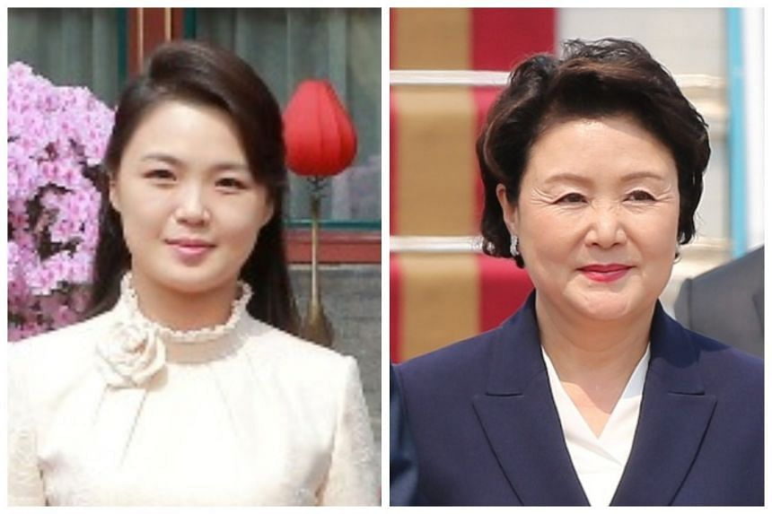 Both Ri Sol Ju (left) and Kim Jung Sook were professional singers before their marriages.