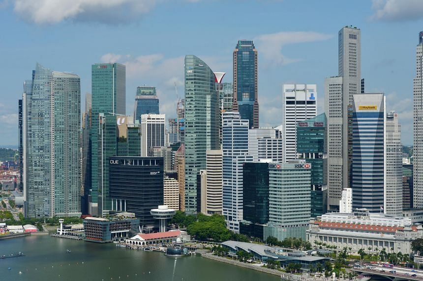 "The Monetary Authority of Singapore reiterated its expectation for full-year gross domestic product growth to come in ""slightly above the middle of the forecast range"" of 1.5 per cent to 3.5 per cent."