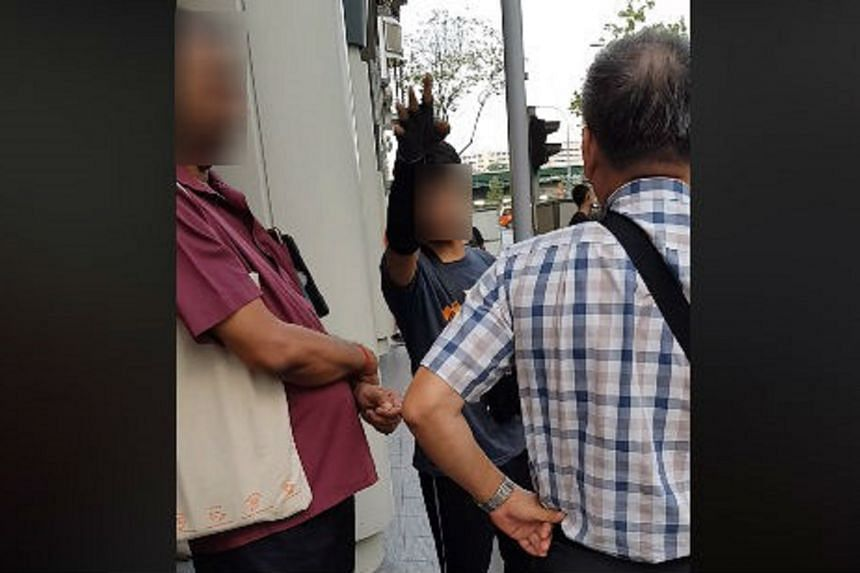 A man claimed in the video that NEA officers had erroneously taken action against an offender.