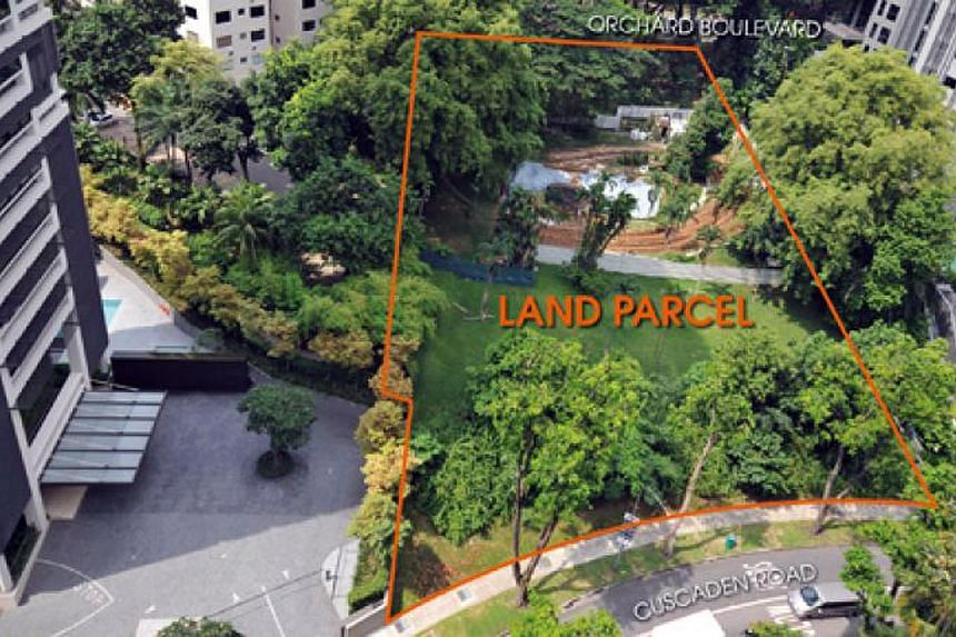 The 5,722.5 square metre 99-year leasehold site - zoned for residential use under URA's 2014 Master Plan - at Cuscaden Road has a gross floor area of 16,023 sq m.