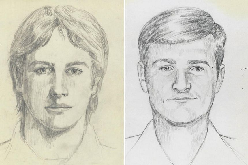 FBI sketches of the East Area Rapist or Golden State Killer, who police have identified as Joseph James DeAngelo (left).
