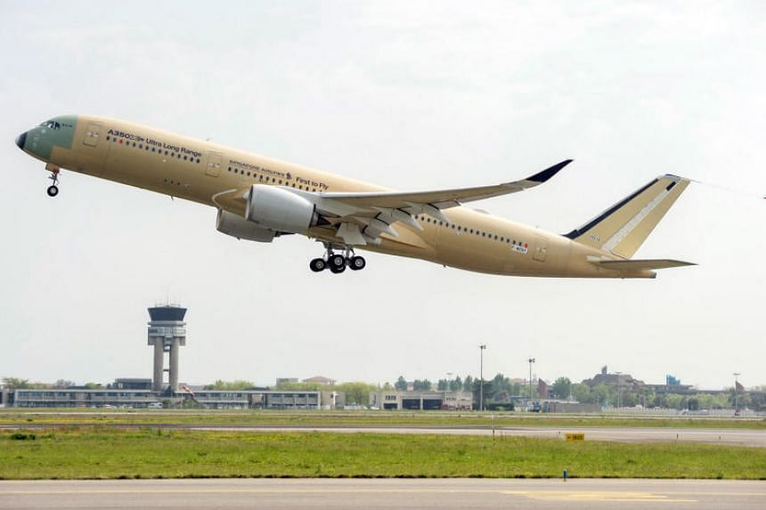 The A350-900ULR aircraft did its first test flight on April 23, an almost five-hour round trip that took off from the Airbus facility in Toulouse, France.