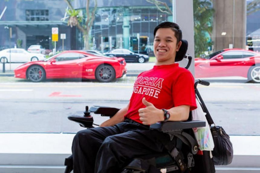 Boccia Singapore athlete Neo Kah Whye was among those present for the event.