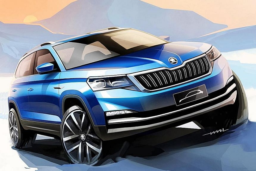 Skoda has released first sketches of a new sport utility vehicle model meant for the Chinese market.