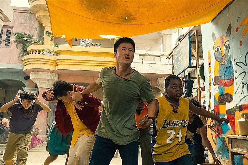 A still from Wolf Warrior II. The movie about a Chinese hero beating Western mercenaries in Africa broke China's box-office record last year. Meanwhile, Hollywood blockbusters are losing steam in the country.