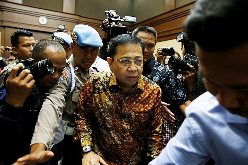Setya Novanto was hit with one of Indonesia's heaviest sentences for corruption on Tuesday after being convicted of taking millions of dollars in kickbacks and bribes linked to the national roll-out of government ID cards.