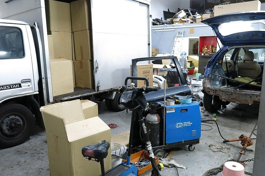 A total of 5,120 cartons and four packets of contraband cigarettes were found in a motor workshop in an industrial building in Kaki Bukit Avenue 4. A Singapore-registered truck that earlier entered workshop was also seized.