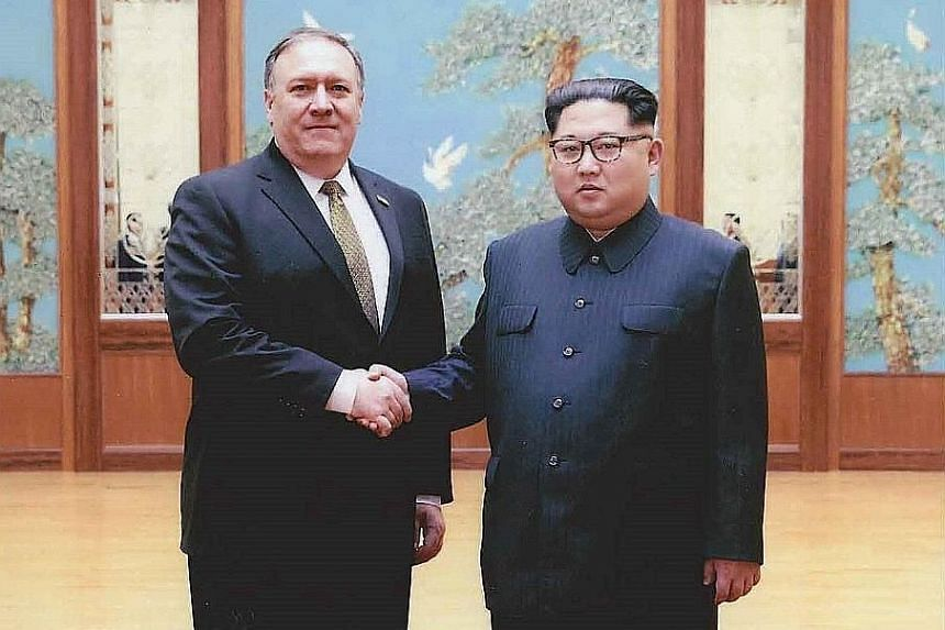 US Secretary of State Mike Pompeo, formerly director of the Central Intelligence Agency, meeting North Korean leader Kim Jong Un in Pyongyang during his visit over Easter several weeks ago. The fact that President Donald Trump sent Mr Pompeo to North