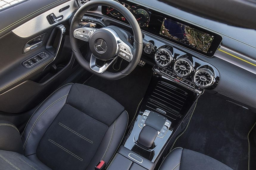 The Mercedes A-class is the first to have an infotainment set with artificial intelligence.