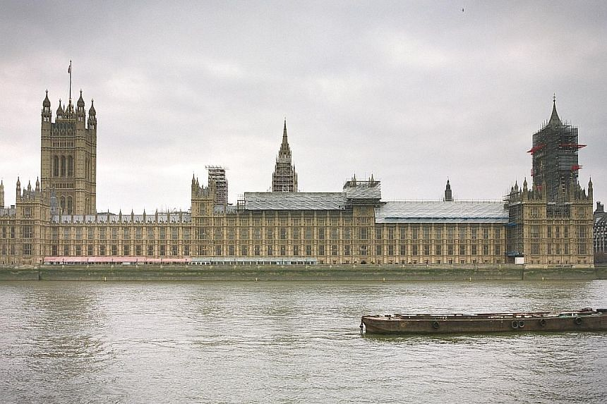 The Palace of Westminster in London is home to the British Parliament.