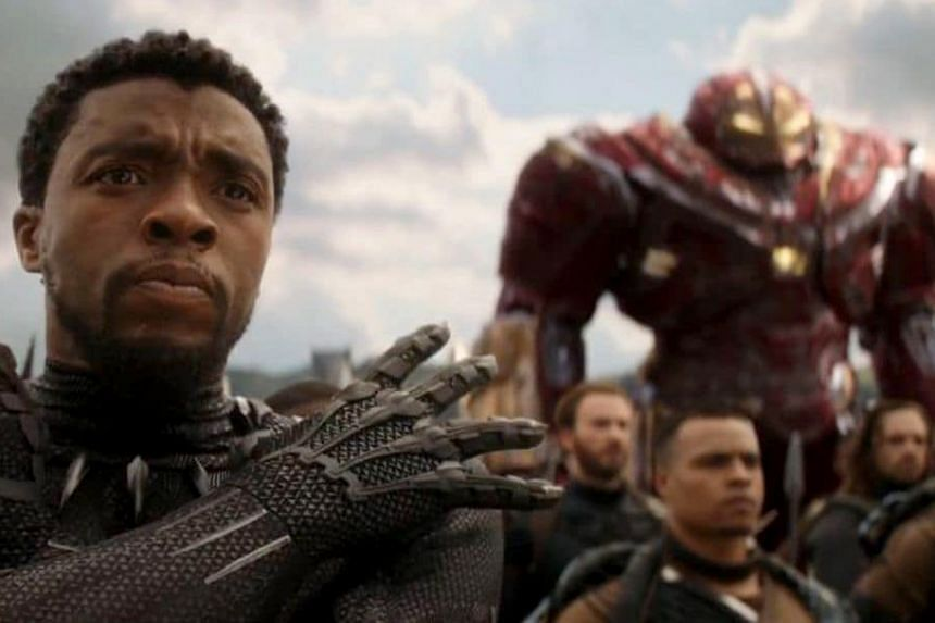 Black Panther (Chadwick Boseman) sharpens his senses for battle against Thanos in Avengers: Infinity War.