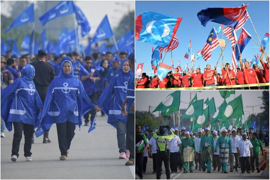Leaders of the three main factions - Barisan Nasional, Pakatan Harapan and Parti Islam SeMalaysia - will all face multi-cornered contests in their seats.