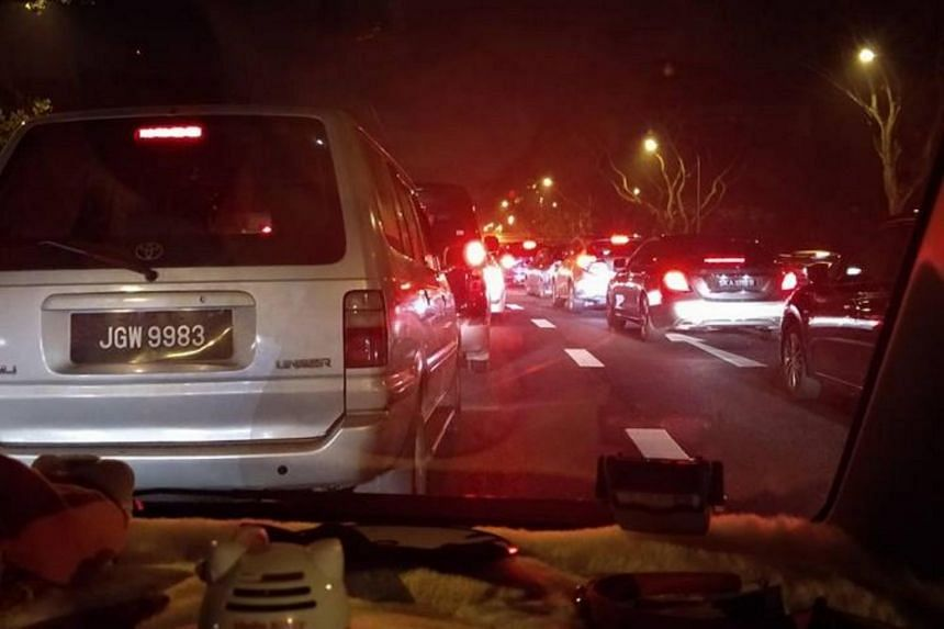 The accident, which involved a motorcycle and five cars, caused congestion stretching to the Thomson Road Exit and later Toa Payoh Exit.