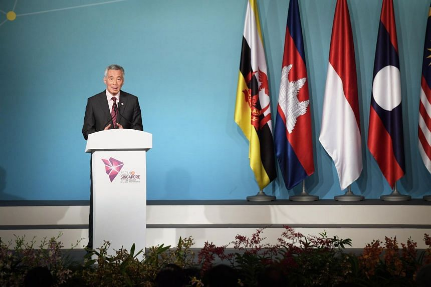 """Prime Minister Lee Hsien Loong said the Inter-Korean Summit """"supports steps to decrease tensions and improve inter-Korean relations, and it will contribute to peace and stability on the Korean Peninsula and in the region""""."""