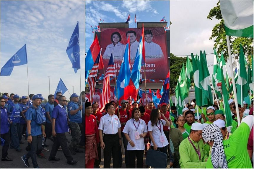 Candidates and supporters making their way to the Nomination centres for Malaysia's 14th general election.