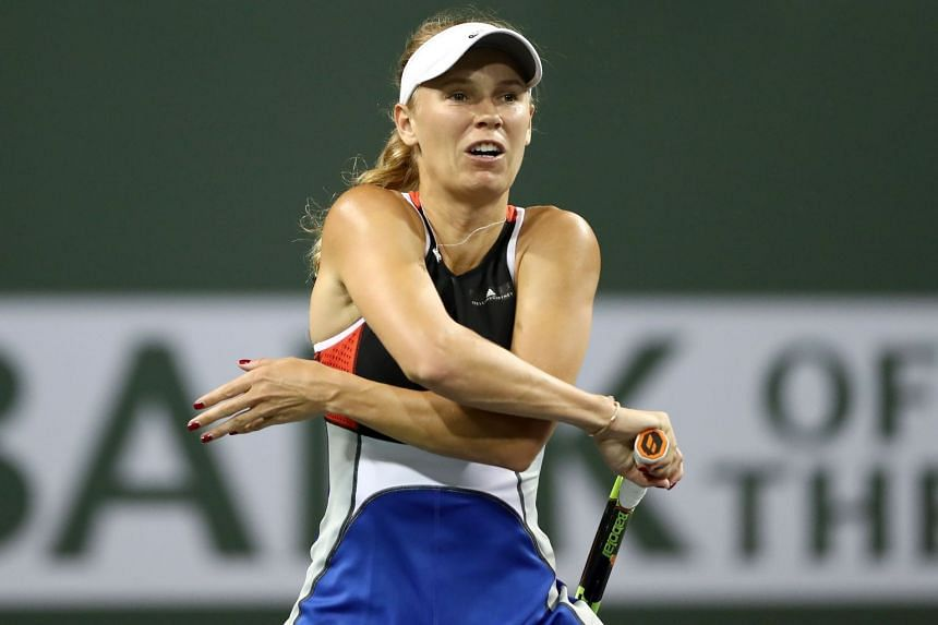 Wozniacki during the BNP Paribas Open at Indian Wells in the United States.