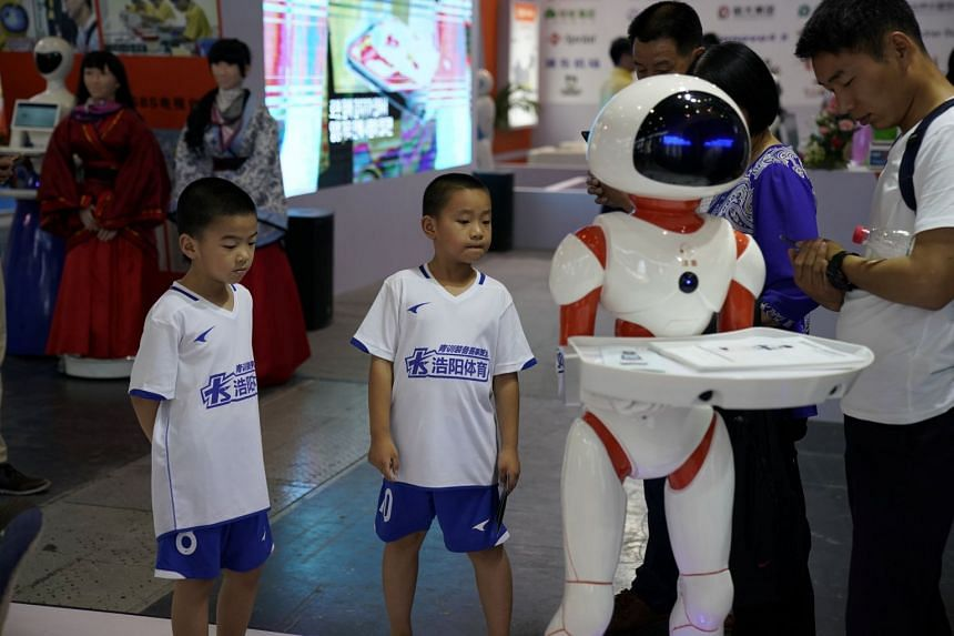 A humanoid robot at the China International Robot Show in Shanghai last year. Major US technology firms have activities in China ranging from research labs to training initiatives, often in collaboration with Chinese companies and institutions which