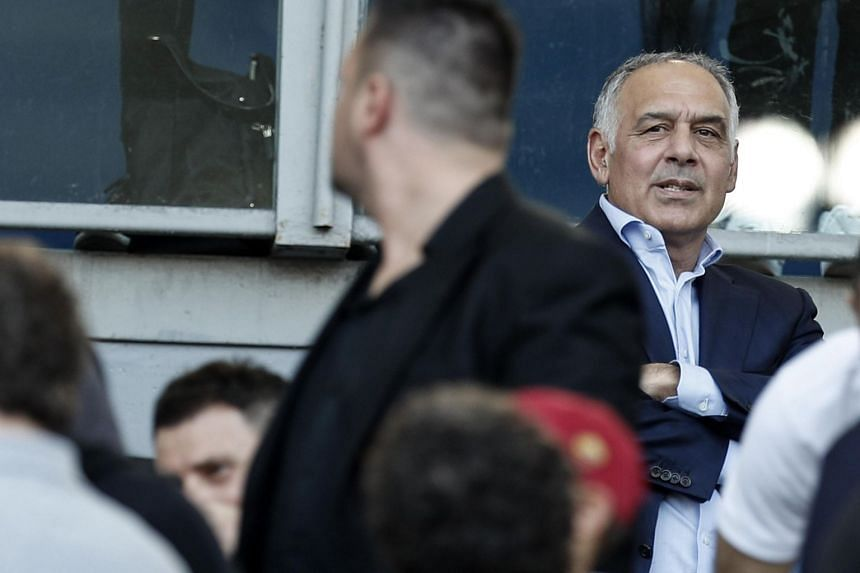 Roma's president James Pallotta in the stands during a match.