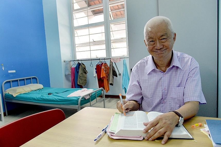 Mr Victor Seah spent 16 years in IMH's regular wards before being moved to Ward 53A, where he was allowed to leave the hospital to go to church and visit his sister. He now lives in live in the Anglican Care Centre (Hougang) and has a half-day job.