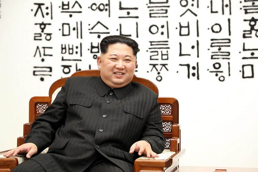 North Korean leader Kim Jong Un at the Joint Security Area on the Demilitarised Zone in the border village of Panmunjom in Paju, on April 27, 2018.