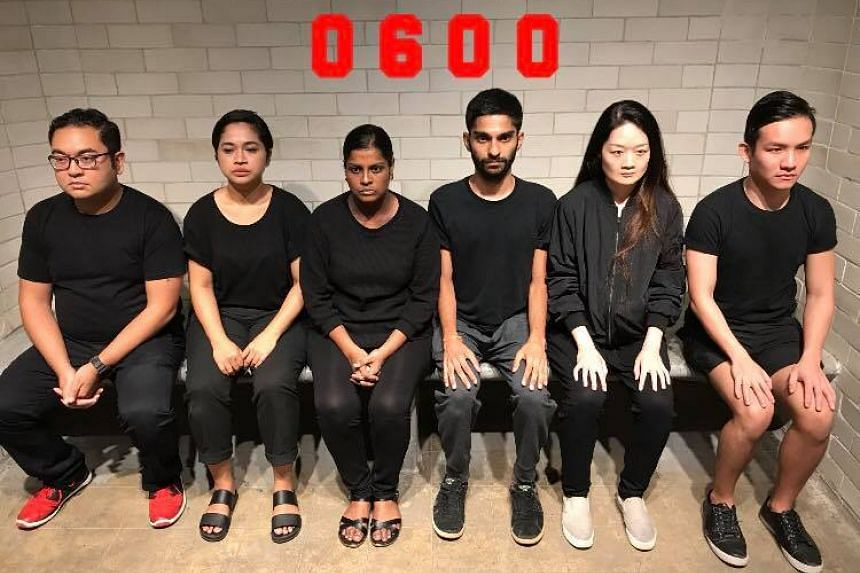The cast of 0600, a play by GROUNDZ-0 which examines the issue of capital punishment.