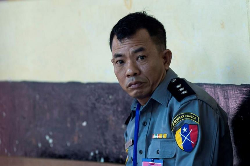 Captain Moe Yan Naing (pictured) has been sentenced to a jail term for violating Myanmar's Police Disciplinary Act.