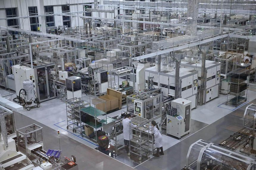 An overview of Dyson's Singapore advanced motor manufacturing facility on April 18, 2018.