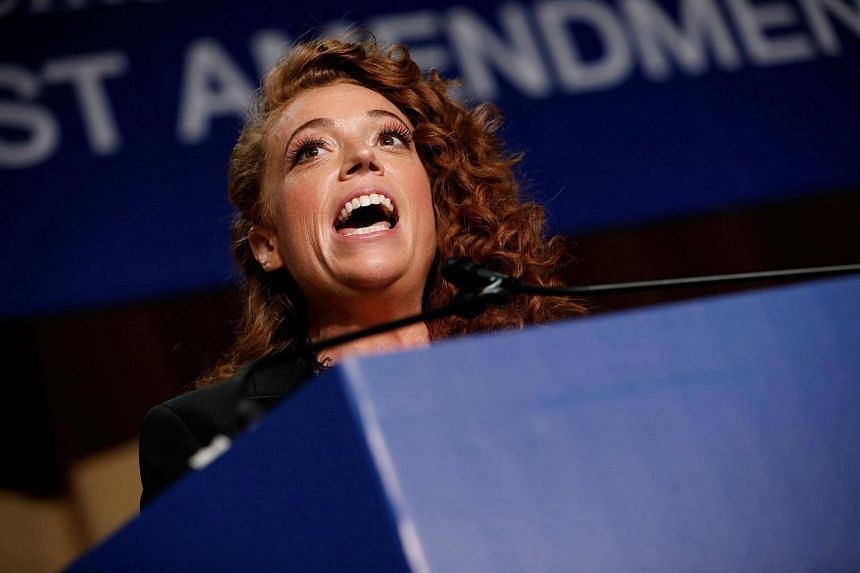 Michelle Wolf performs at the White House Correspondents' Association dinner in Washington on April 28, 2018.