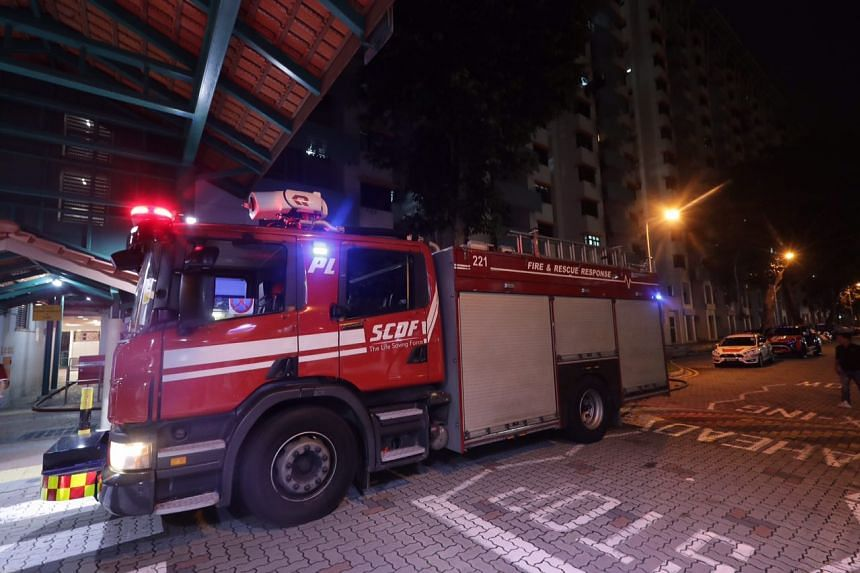 Firefighters responding to the fire at Blk 18 Bedok South Road at 8.22pm, had to force their way into the three-room flat.