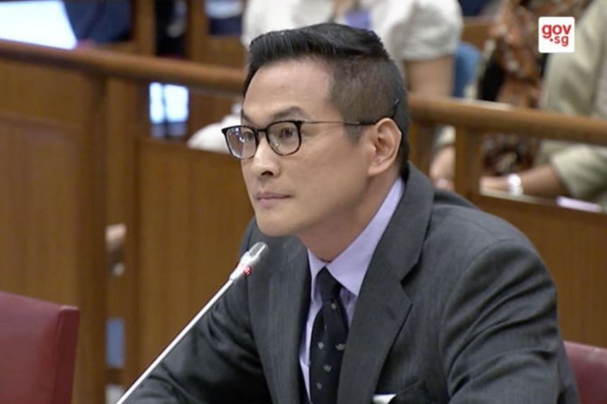Historian Thum Ping Tjin before the Select Committee on Deliberate Online Falsehoods.