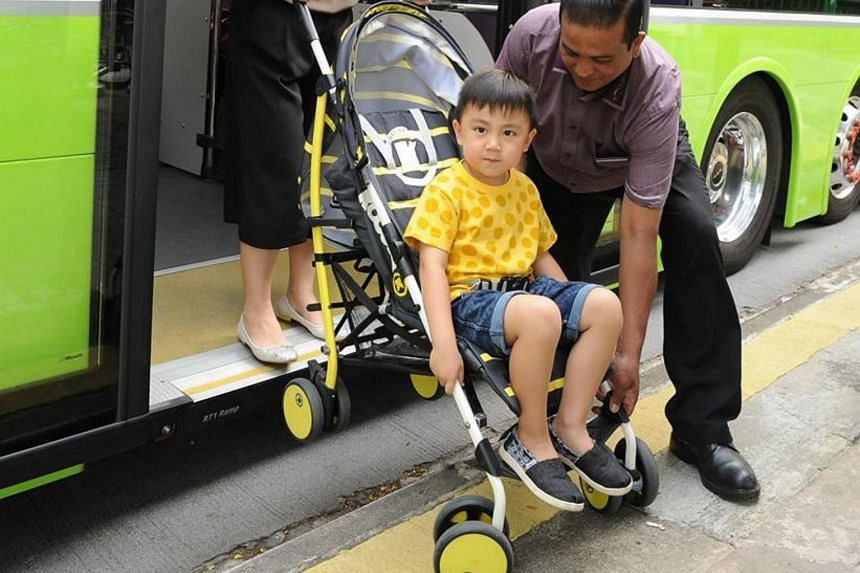 """The recommendations include allowing rear-door boarding of buses for people pushing open baby strollers; installing user-friendly stroller restraint systems; and training bus drivers to drive nearer to the kerb so as to make these """"stepless"""" buses tr"""
