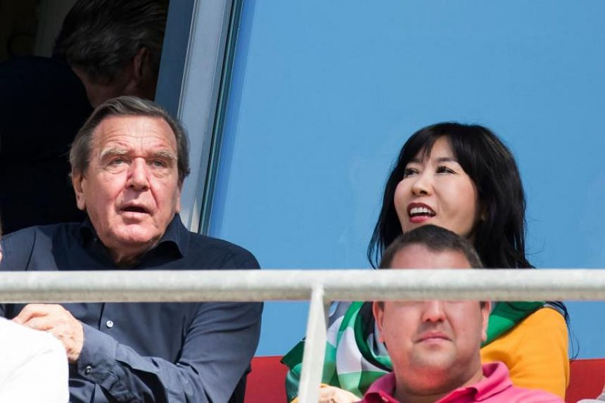 Former German Chancellor Gerhard Schroeder (left) announced in January that he would marry Kim So Yeon, a South Korean translator 26 years his junior, after his fourth marriage fell apart.