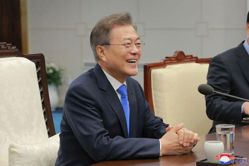 """President Trump can take the Nobel prize. All we need to take is peace,"" said South Korean President Moon Jae In."