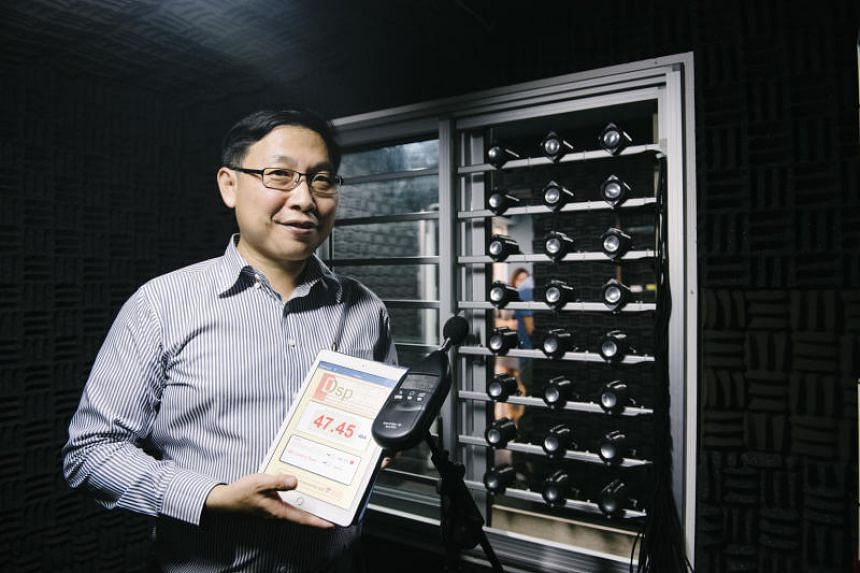 Professor Gan Woon Seng of NTU, lead researcher of the team that developed a device that can reduce noise pollution entering buildings even while windows are wide open.