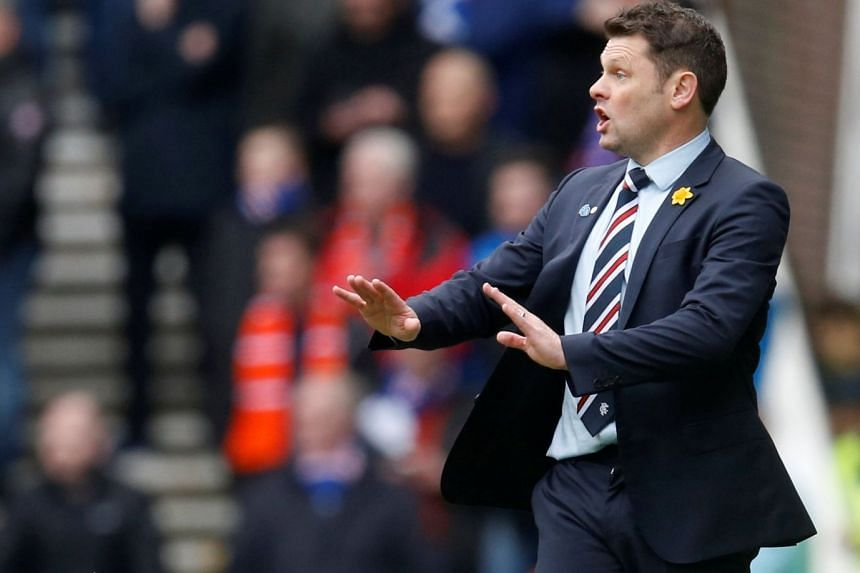 Rangers manager Graeme Murty during the Scottish Premiership match against Celtic at Ibrox Stadium in Glasgow on March 11, 2018. He was intended to be their caretaker boss but ended up in the post for six months.
