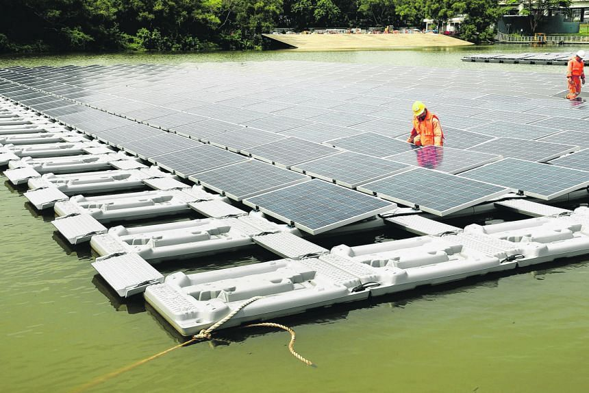 The floating solar panel test bed at Tengeh Reservoir is the world's largest. PUB is looking at adding solar systems to Bedok and Lower Seletar reservoirs to power its energy-intensive water treatment processes in a greener way.