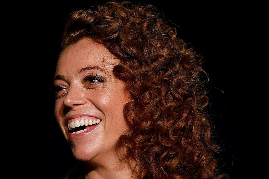People who were targeted in the speech by comedienne Michelle Wolf (above) included White House press secretary Sarah Huckabee Sanders and president's counsellor Kellyanne Conway .